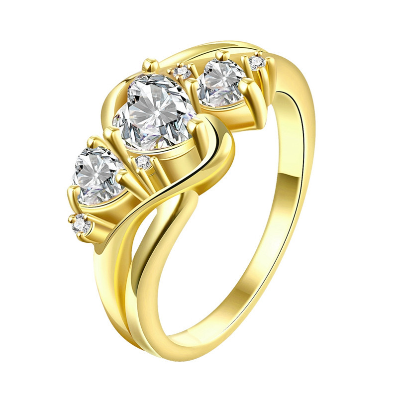 24k yellow gold rose gold plated rings for women prong for 24k gold wedding ring