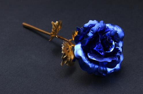 24k Gold Foil Plated Rose Kunstbloemen Wedding Decoration Golden Rose Gold flore artificiales Gold Dipped Rose