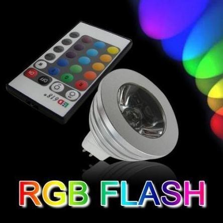 RGB MR16 GU10 GU5.3 E27 LED Bulb Light Lamp 12V 110V 220V 16 Color Change Remote Control HOUSE led LIGHT studio LAMP 3w LED RGB(China (Mainland))