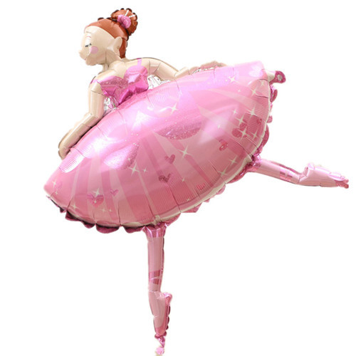 Large Size Party balloons Ballet Dancing Girl Foil Balloons Wedding Decoration Birthday Party Decorations Kids Baby Girl 110cm<br><br>Aliexpress