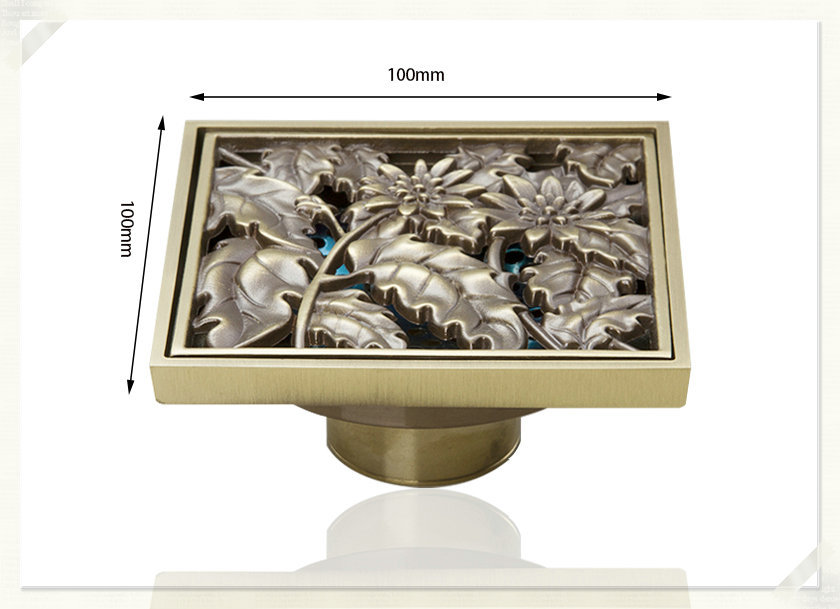 e pak Best Price Beautiful L5402 Antique Brass Gravity Flushing Construction Real Estate Bathroom Floor Drain