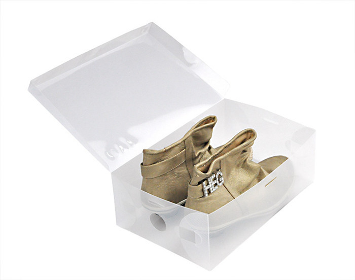 3pcs/lot shoes boxes with a lid Storage Boxes&Bins 30*18*10cm transparent plastic shoes box high heels/flat shoes free shipping(China (Mainland))