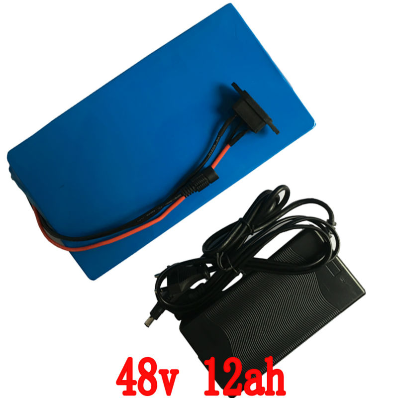 48V 12AH Electric Bicycle E-bike Lithium Battery with PVC case 15A BMS,54.6V 2A charger(China (Mainland))