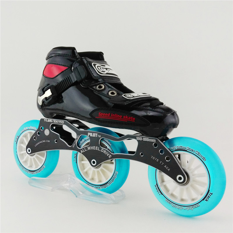 Adult speed skate shoes children roller skate inline skate  round cake shoes wheel with 3x110 mm<br><br>Aliexpress