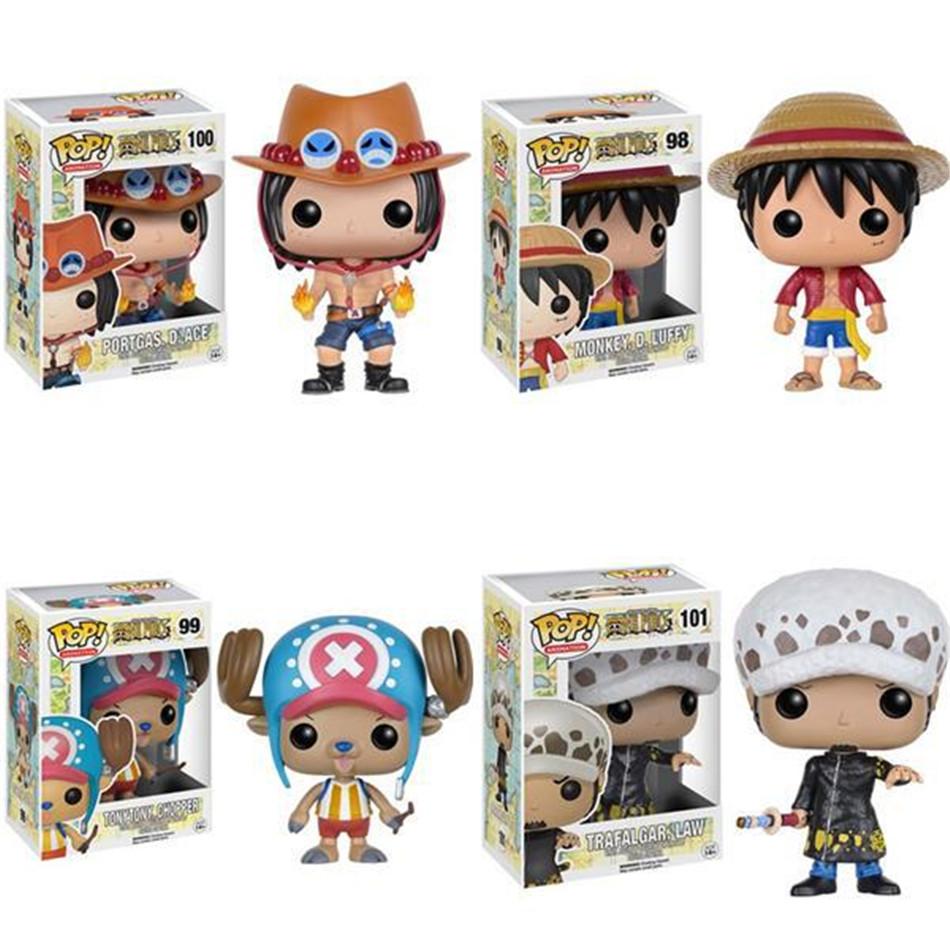 Funko POP Mini One Piece Anime Luffy Chopper Ace Law Vinyl PVC Collection Action Figure Model PVC Kids Toys(China (Mainland))