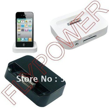 Dock Cradle Charger Station for iphone 2g, 3g, 3gs, 4G & 4S by free DHL, UPS or EMS; white or black color available; 5pcs/lot(China (Mainland))