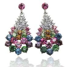 New Fashion Full Austrian Rhinestone Crystal Stud Earrings for Women Wholesale! Vintage Big Earrings Jewelry!Brincos Pendientes(China (Mainland))