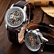 Reloj Hombre Shanghai Shenhua Automatic Mechanical Watches Men Fashion Vintage Skeleton Mechanical Watch Erkek Kol Saati