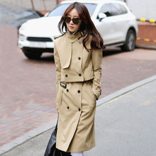 In fall 2015 new products, original design brand quality   women's trench coat of loose big yards