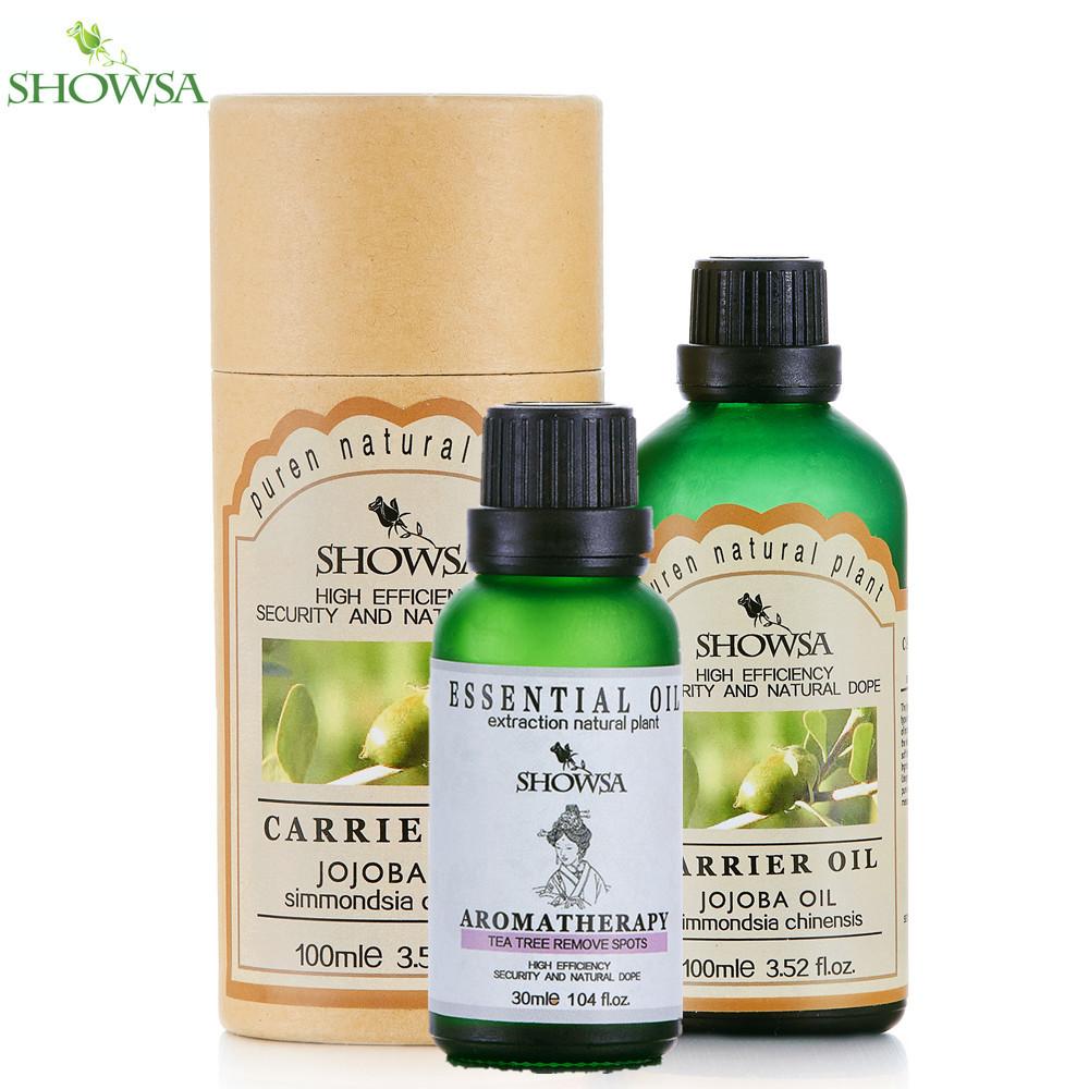 Tea Tree Remove Spots Essential Oil + Jojoba base oil Relieve Scar Blackhead Whelk Keep skin hydrated Fade wrinkles oil<br><br>Aliexpress