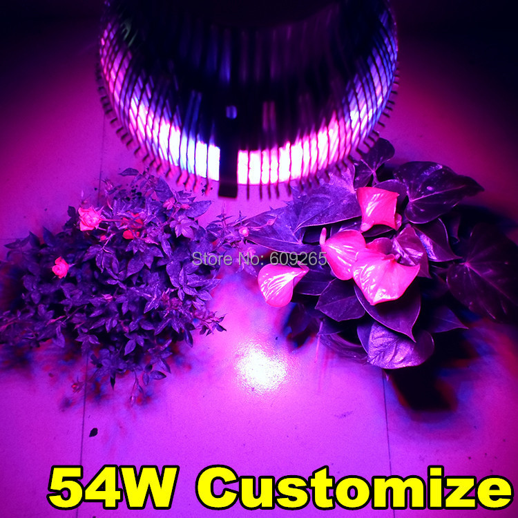 1PCSX New 54W 660nm 620nm 460nm 12000K Full Spectrum E27 Led Grow light Plant Growing Lamp Hydroponic Flowering free shipping<br><br>Aliexpress