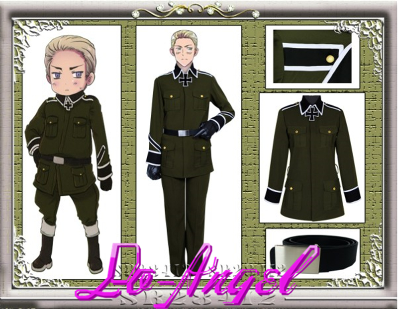 Hot Sale!Anime Axis Powers Hetalia Unisex Germany Military Uniform Cosplay Costume Customized Size Free ShippingОдежда и ак�е��уары<br><br><br>Aliexpress