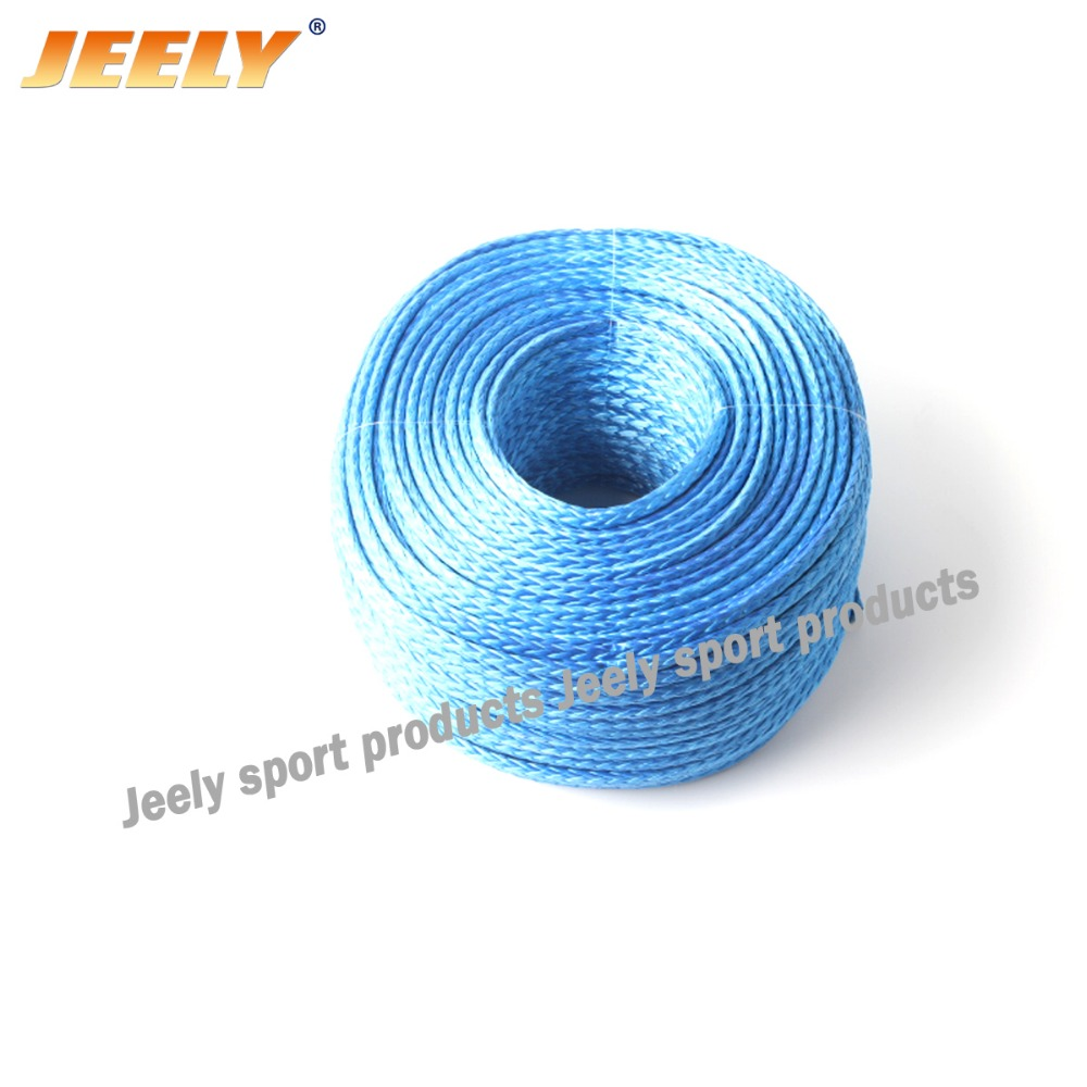 Free shipping 300M/piece 5500lb braid uhmwpe drum towing winch rope extreme strong 5mm Dyneema(China (Mainland))