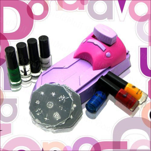 Nail art stamping image plate polish nail stamping printing machine kit set dropshipping