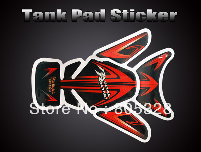Cool ! Motorcycle Tank Pad Sticker Protector bike Decal