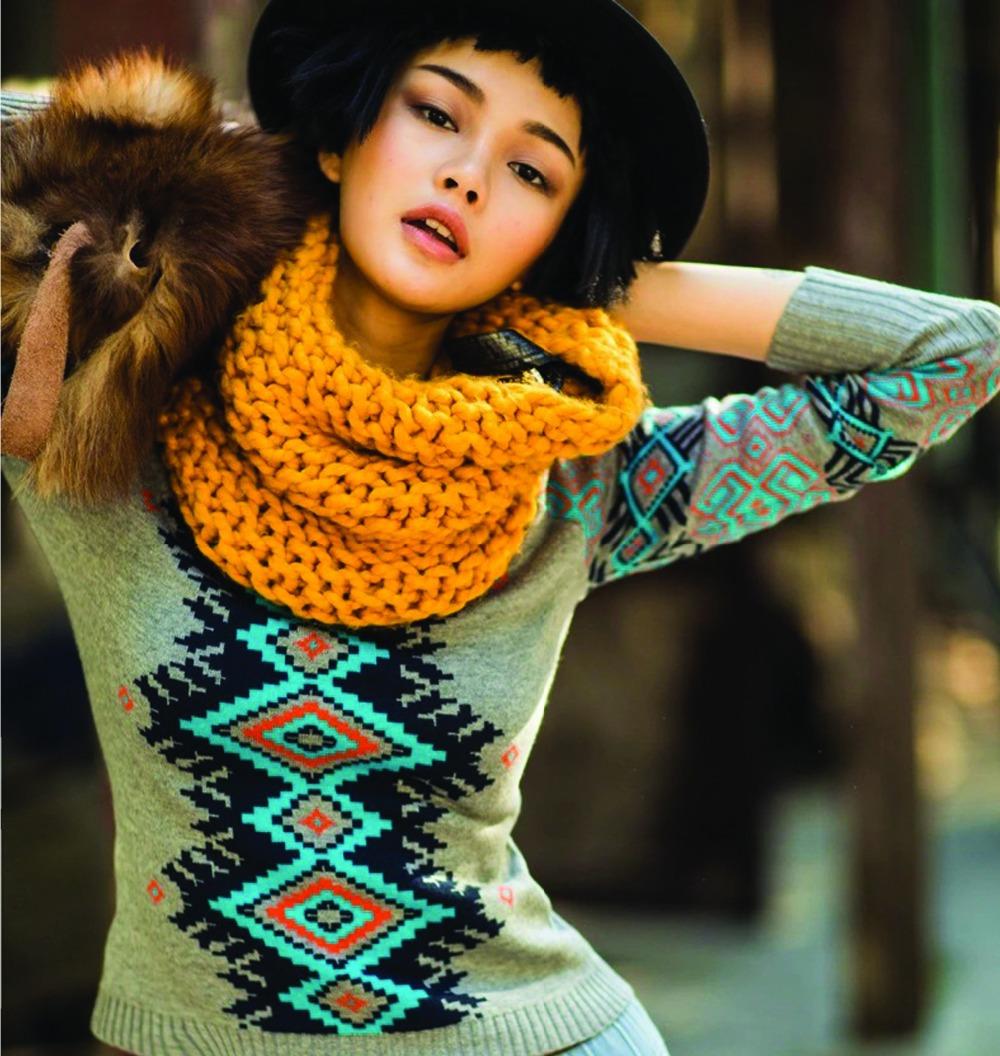 Women Sweater Dress Plus Size Casual Knit Dresses 2015 Autumn And Winter Women Print Long Winter Dress Knit Jacket(China (Mainland))