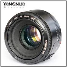 Buy Yongnuo Lens EF 50mm F/1.8 1:1.8 Auto Focus Standard Prime Lens Canon 1200D 1100D 750D 700D 650D 550D 80D 70D 60D 7D 6D 5D for $50.50 in AliExpress store