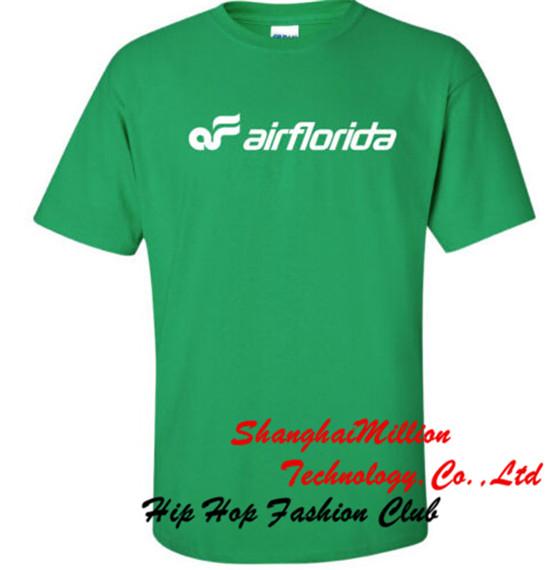 Unisex Air Florida Vintage Logo American Airline T-Shirt(China (Mainland))