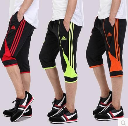 Free shipping Football capris pants legs training martial arts pants ride pants seven capris summer football pants mens clothing(China (Mainland))
