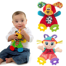 Infant Baby Preferred Appease Towel Toys Cute Cartoon Playmate Calm Doll Teether Developmental Kids Toy Speelgoed Mordedor(China (Mainland))