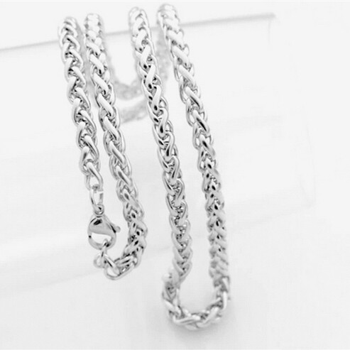 hot sale 2015 new style men chains necklace.4mm 5mm 6mm 8mm 316L stainless steel.steel color.summer style.best gifts for men(China (Mainland))