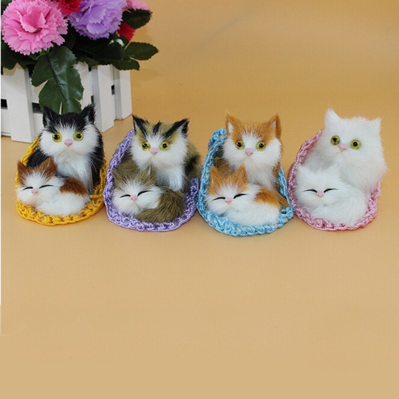 Simulation Plush Toy Slippers Sleeping 1Pcs Cats Soft Toys Cute Home Coffee Shop Lovely Decoration Four Style Option(China (Mainland))