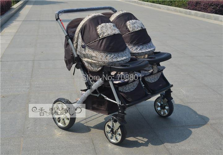 Классическая baolai твин коляски, двойной сиденье коляски с большим подвеска, 8 цвета для доступны