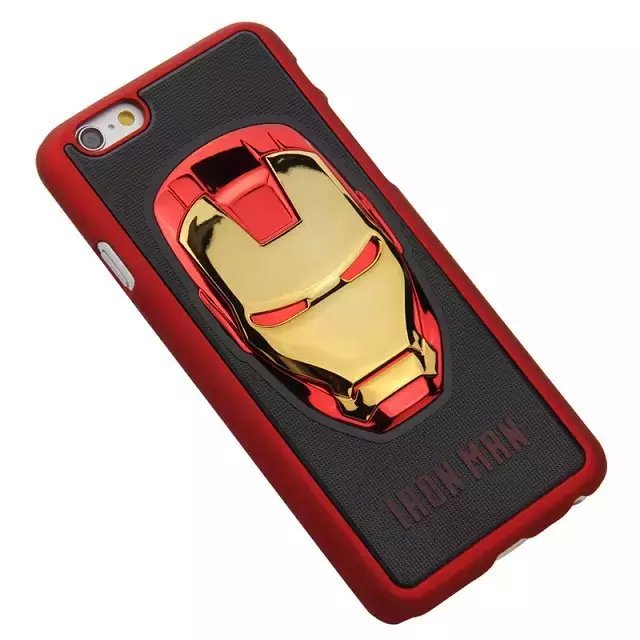 Cool 3D Hero Avengers Iron Man Ironman Hard Shell Capa Cases for iPhone 6 Plus 6 6G 5 5G 4s 4 4G Tony Stark Helmet Mask Cases(China (Mainland))