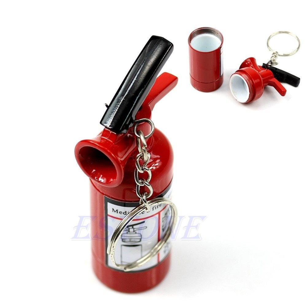Free shipping Secret Safe Fire Extinguisher Shaped Stash Tin Box Pill Case Great Gift New(China (Mainland))