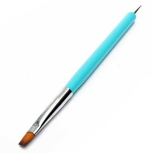 Alta Qualidade Venda Quente NEW 2-formas Nail Art Pen Pintura Acrílico UV Gel Polonês Escova Dotting Ferramenta Forros 5W4S 7GXO ADOD