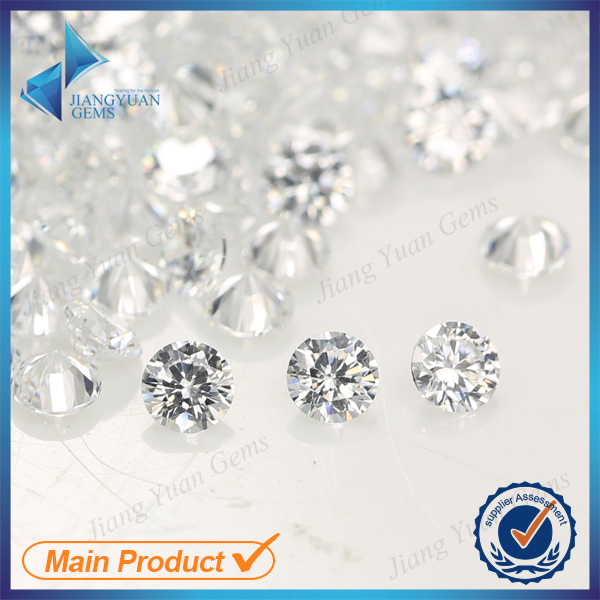 Free shipping 2.25mm 5A White Color Loose CZ Stone Cubic Zirconia Stone For Jewelry DIY(China (Mainland))