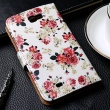 Luxury Painted PU Leather Cases For Samsung Galaxy NoteII N7100 Note 2 Note2 7100 Cover Card Holders Phone Wallet Flip Holster(China (Mainland))