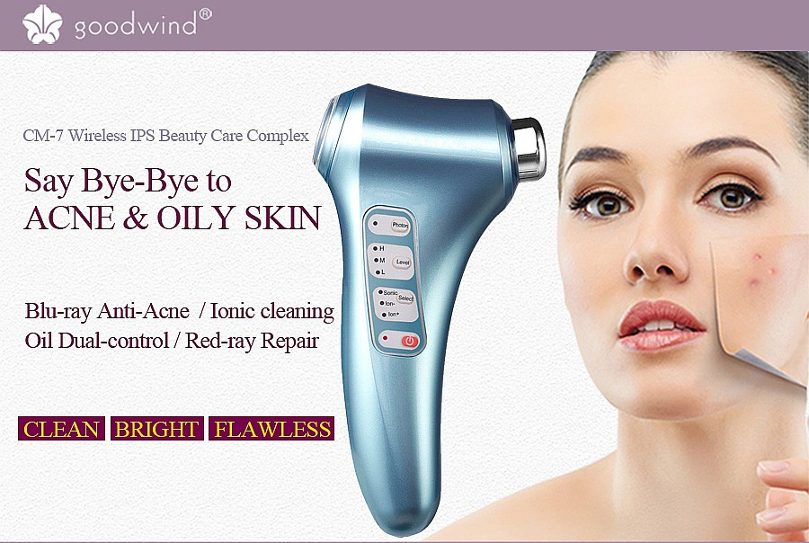 Goodwind CM-7-2 Electric Mini Face Body Skin Health Beauty Care Massage Device Facial Cleanser Ultrasonic Home Face Lifting Firm