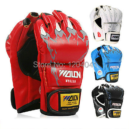 product  Boxing Gloves Extension Wrist Leather Half Fighting Boxing Gloves Competition Training GlovesMitts Sanda Karate Taekwondo