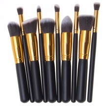 10pcs/set High Quality Makeup Brushes Beauty Cosmetics Foundation Blending Blush Make up Brush tool Kit Set(China (Mainland))