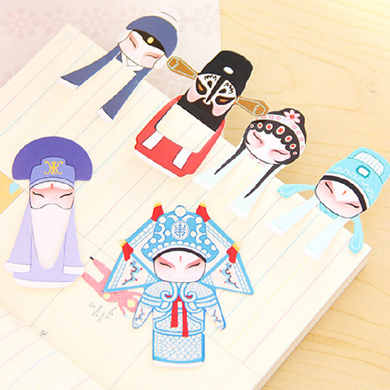 14 pcs/2 packs classic peking opera paper bookmark stationery bookmarks book holder school supplies papelaria<br><br>Aliexpress
