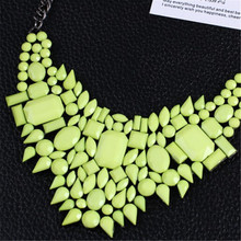 Free Shipping 2014 New Arrival Resin Fashion Charm Gem Cute Necklaces Pendants Fashion Jewelry Jewelery Woman