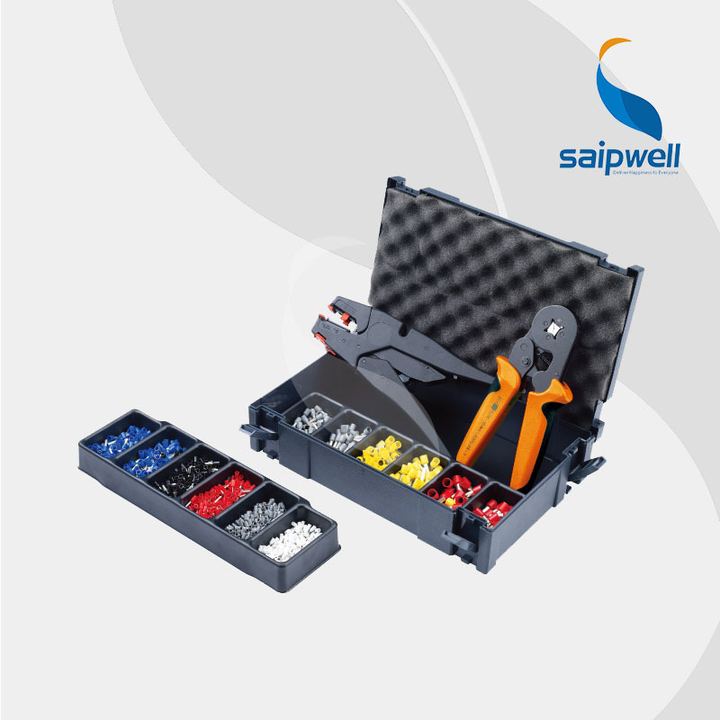 Mini Combination Tools Box for 6mm Tube Terminal /Connector Crimp Plier& Wire Stipper Plier& Termianls (SP-FSZ-6D2)(China (Mainland))