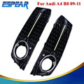 2016 1pair Daytime Running Front LED Gloss Grille Lights For Audi A4 B8 2009 2011 with