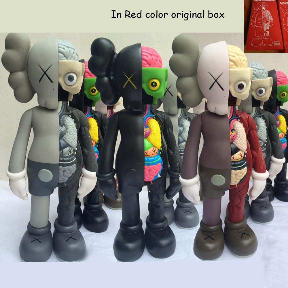 Crazy Promotional 16 Inch Originalfake KAWS Dissected Companion Figure Kaws Toys Kaws Original Fake With Red Color Original Box(China (Mainland))