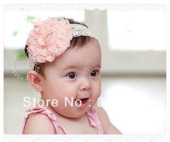 baby hair clip, rose Silk Flower Pattern Baby Hairband,Children Lace Hair Bows,Kid's Flower Headbands,Baby Hair Accessories