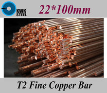 Buy 22*100mm T2 Fine Copper Bar Pure Round Copper Bars DIY Material Free for $21.20 in AliExpress store