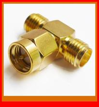 20pcs/LOT x RP-SMA Male to 2 x RP-SMA Female Router Adapter(China (Mainland))