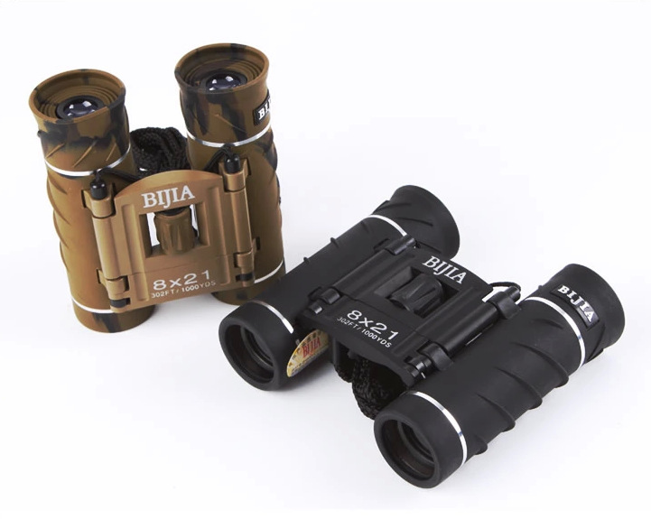 High Quality 1000YDS Mini 8X HD Binoculars BIJIA 8X21 Professional Powerful Binocular Telescope Large Eyepiece Theater Glasses(China (Mainland))