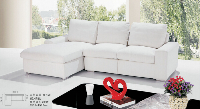 Lizz White Upholstery Fabric Sofa Malaysia Couches.Small L shape corner sofa.small sizes of Commodity houses furniture(China (Mainland))