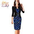 Women Office Dress Plus Size 6L Long Kleider Elegant 2016 Summer Pencil Bodycon Vestidos Wear To