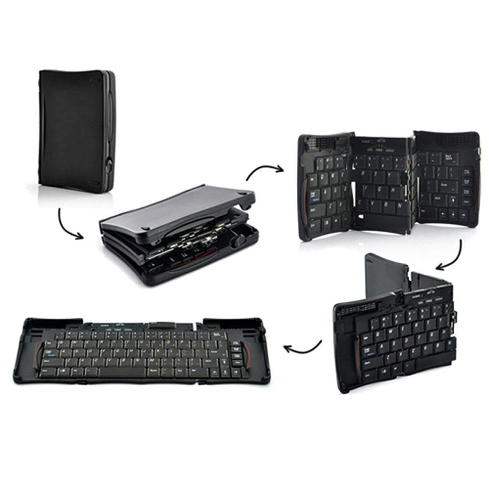 Mini Foldable Bluetooth 3.0 Keyboard Wireless Keyboard for iOS Android Tablet Laptop Smartphone Computer Black(China (Mainland))