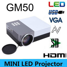 Portable Mini Led Digital Projector GM50 80Lumens Home Theater Cinema Beamer Projektor  For Video Games TV Movie USB VGA HDMI AV(China (Mainland))