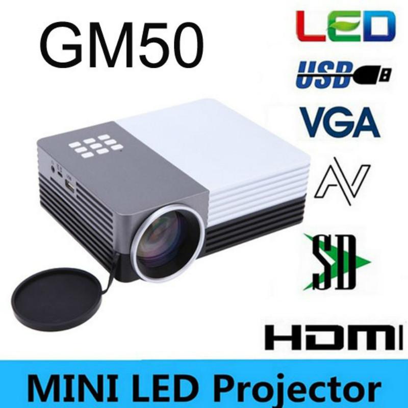 Portable Mini Led Digital Projector GM50 80Lumens Home Theater Cinema Beamer Projektor For Video Games TV Movie USB VGA HDMI AV(China (Mainland))