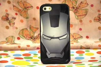 1pcs, Iron Man With Retail packing, PC+TPU Skin Cover Case for iphone 5/5S, Best for iphone 5 Case, New Look
